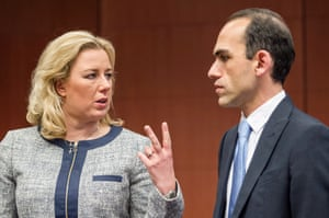 Finland's Finance Minister Jutta Urpilainen, left, talks with the Cyprus' Finance Minister Haris Georgiades at the start of an Eurogroup meeting at the EU Council in Brussels on Monday, May 13, 2013. (AP Photo/Geert Vanden Wijngaert)