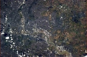 Chris Hadfield's images: London, England, from Canary Wharf to The City