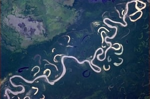 Chris Hadfield's images: I'm used to rivers that know what they're doing. Rio Beni, NW Bolivia