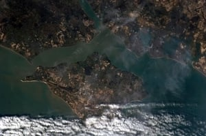 Chris Hadfield's images: The Isle of Wight looks like a jigsaw piece