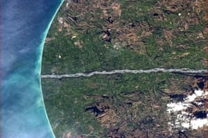 Chris Hadfield's images: New Zealand's South Island