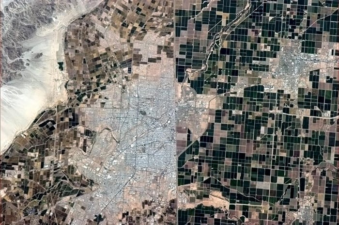 Chris Hadfields Photographs Of Earth From Space In Pictures - Aerial maps over mexican us border