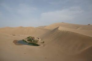 Crescent lake in China: Crescent lake