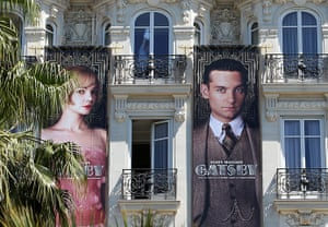 Cannes preparation : Posters advertising The Great Gatsby are displayed on the facade of the Car