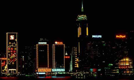 General view of Hong Kong at night