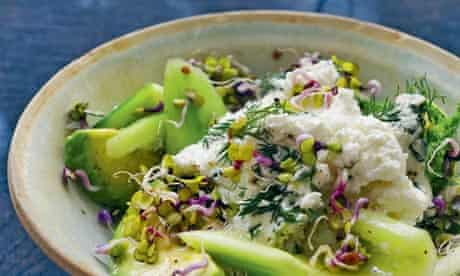 Cucumber, fennel and ricotta salad