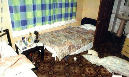 A room in the Nanford guest house in Oxford that was used by the paedophile ring.