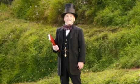 Kenneth Branagh as Isambard Kingdom Brunel in the Olympic opening ceremony