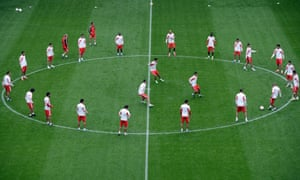 Members of the Benfica squad take part in a training session at the Amsterdam Arena. Benfica play Chelsea tomorrow in the final of the Europa league.