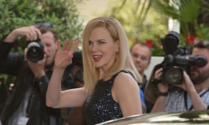 Australian actress and member of the Feature Film Jury, Nicole Kidman, waves as she arrives at the Martinez Hotel in Cannes to attend a photocall of the Jury on the eve of the 66th edition of the Cannes Film Festival.