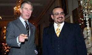 Prince Charles (left) with the Crown Prince of Bahrain at St James Palace in London