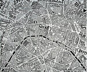 Handdrawn Maps: Paris map by Mark Webber
