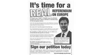 Lib Dem leaflet