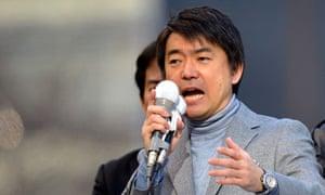 Japan Restoration party deputy president and Osaka city mayor Toru Hashimoto