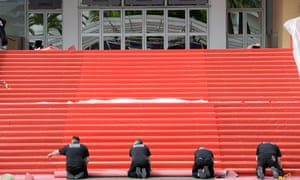 The vital red carpet is rolled out on the opening day of the 66th Annual Cannes Film Festival in the south of France this morning.