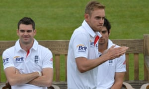 England's Stuart Broad feels the cold during the nets session at Lords Cricket Ground in a very cold  London.