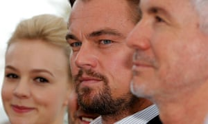 Cast members Carey Mulligan and Leonardo DiCaprio ready for their close up with Director Baz Luhrmann for the film 'The Great Gatsby'
