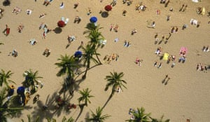Sunbathers on Waikiki