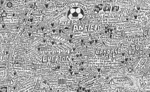 handdrawn maps: Liverpool map by Stephen Walter
