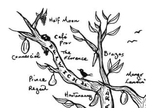 Liam Roberts' Brixton map – close-up