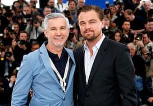 Gatsby photocall: Director Baz Luhrmann and Leonardo DiCaprio pose during the photocall