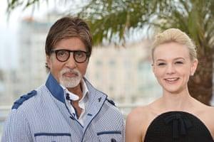 Gatsby photocall: Amitabh Bachchan and Carey Mulligan