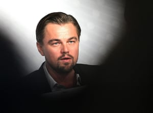 Gatsby photocall: Leonardo DiCaprio speaks at the the press conference