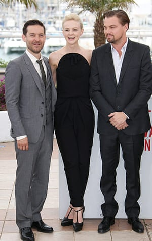 Gatsby photocall: Tobey Maguire, Carey Mulligan and Leonardo DiCaprio