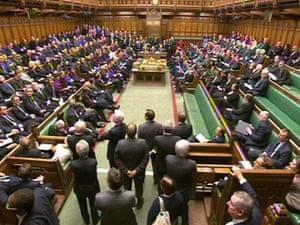 MPs are voting on the EU referendum bill amendment tonight.