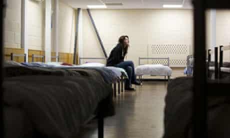 Hayley Bond, at Narrowgate shelter, Salford