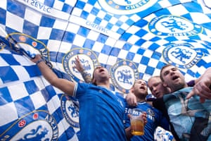 Europa League final: Chelsea fans celebrate in the centre of Amsterdam
