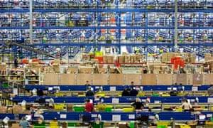 Amazon distribution centre in Milton Keynes
