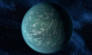 Nasa sketch of Kepler-22b, one of the planets spotted by the telescope