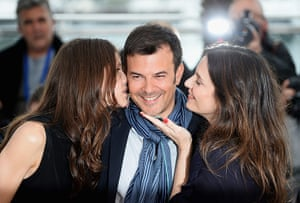 Cannes photocalls: Marine Vacth, director Francois Ozon and Geraldine Pailhas at the Jeune & J