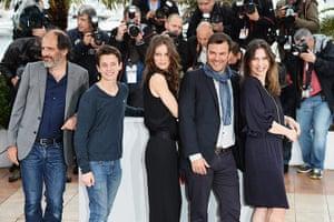 Cannes photocalls: Jeune & Jolie cast and director: Frederic Pierrot, Fantin Ravat, Marine Vac