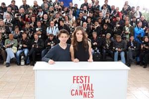 Cannes photocalls: Fantin Ravat and Marine Vacth at the Jeune & Jolie photocall