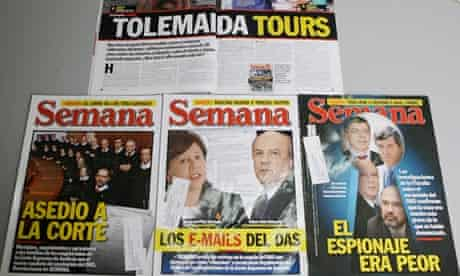 Articles by Colombian journalist Ricardo Calderón, who escaped unhurt in an attack on 1 May