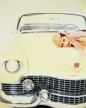 Erwin Blumenfeld: Nancy Berg Cadillac, 1954
