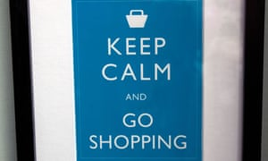 Keep Calm and Go Shopping poster, London