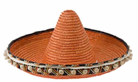 Orange straw sombrero