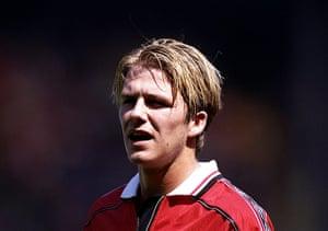 Beckham hair: David Beckham in 1998