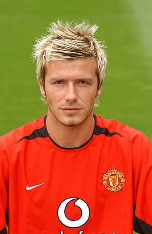 Beckham hair: David Beckham in 2002