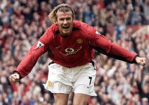 Beckham hair: David Beckham with an alice band