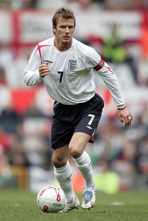 Beckham hair: David Beckham in with a fairly sensible haircut in 2005