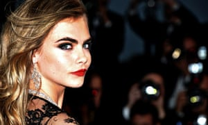 Cara Delevingne at The Great Gatsby premiere in Cannes.