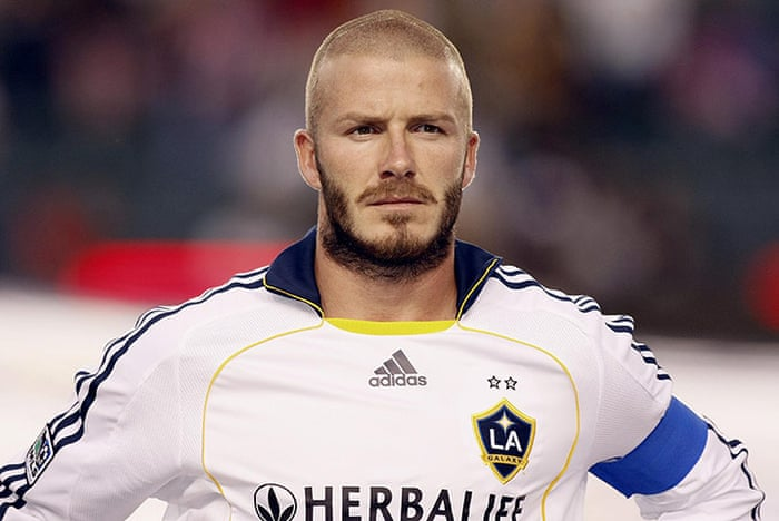 David Beckham A Career In Hairstyles In Pictures Football The Guardian
