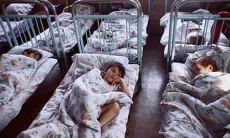 Russian orphans in Irkutsk
