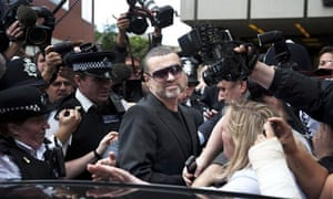 George Michael at Highbury Corner magistrates court on driving offences in 2010