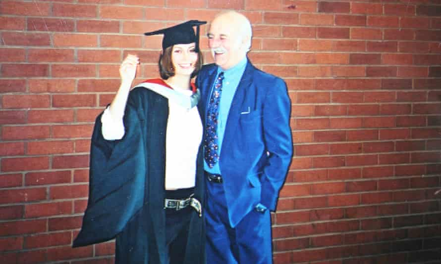 Kirsty Day with her father, David Elleray.