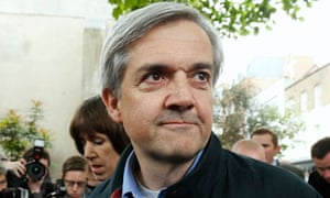 Chris Huhne arrives back home after being released from prison